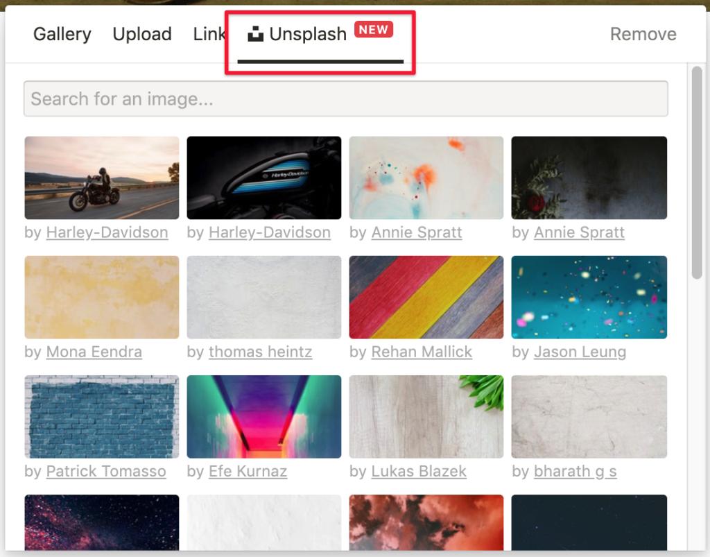 選擇Unsplash挑選喜歡的封面照片