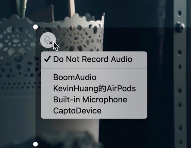點擊左上設定音訊錄製與來源