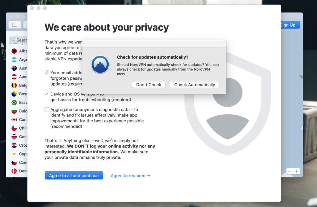 「NordVPN評價」macOS使用教學-勾選Check Automatically可以自動更新