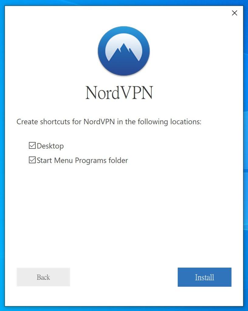 「NordVPN評價」Windows使用教學-確認選項後開始安裝