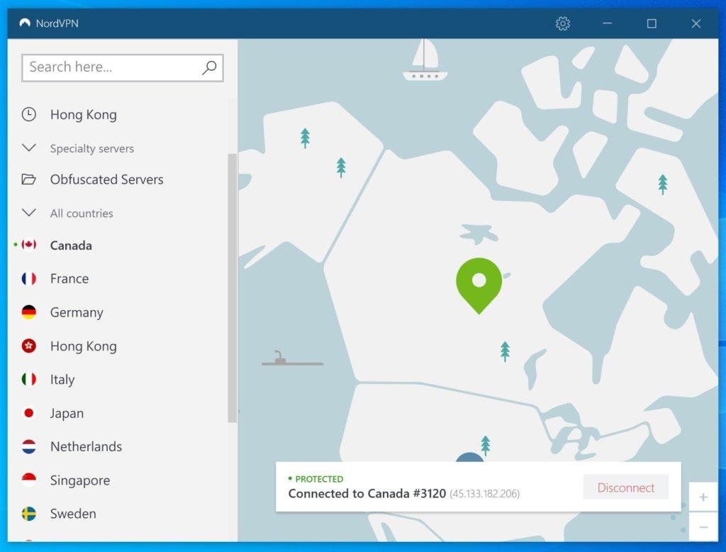 「NordVPN評價」Windows使用教學-連線成功