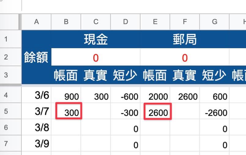 Google表單記帳術-測試對帳功能-測試第二次對帳