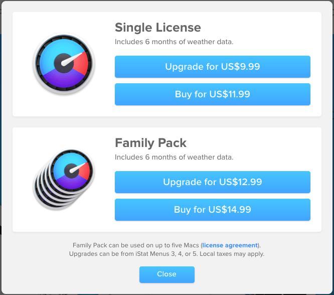 iStatMenus軟體直接購買價格