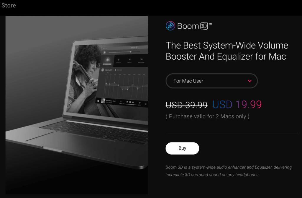 Boom3D直接購買價格