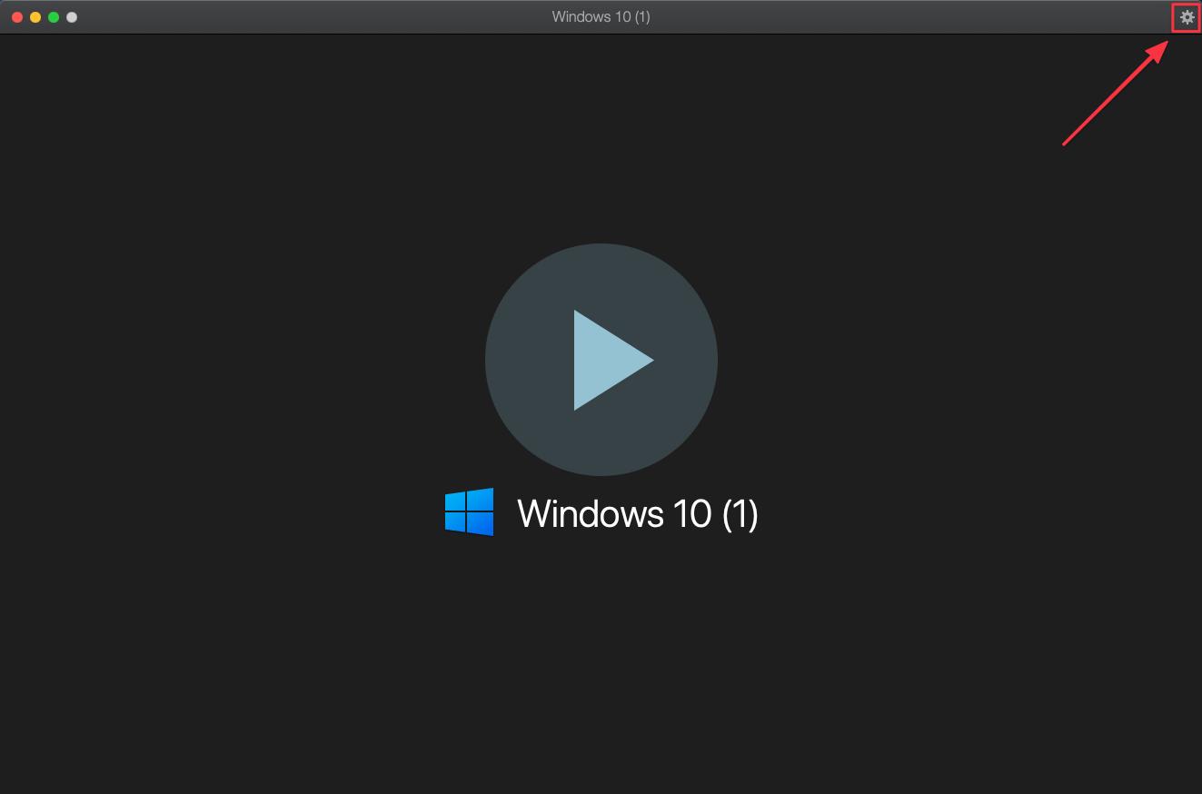 如果只有一台虛擬機,則是會直接開啟虛擬機畫面,右上角也可以開啟設定視窗